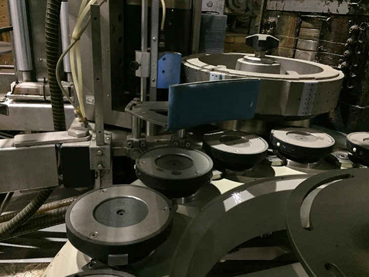 Used SACMI Roll Feed Rotary Labeler full