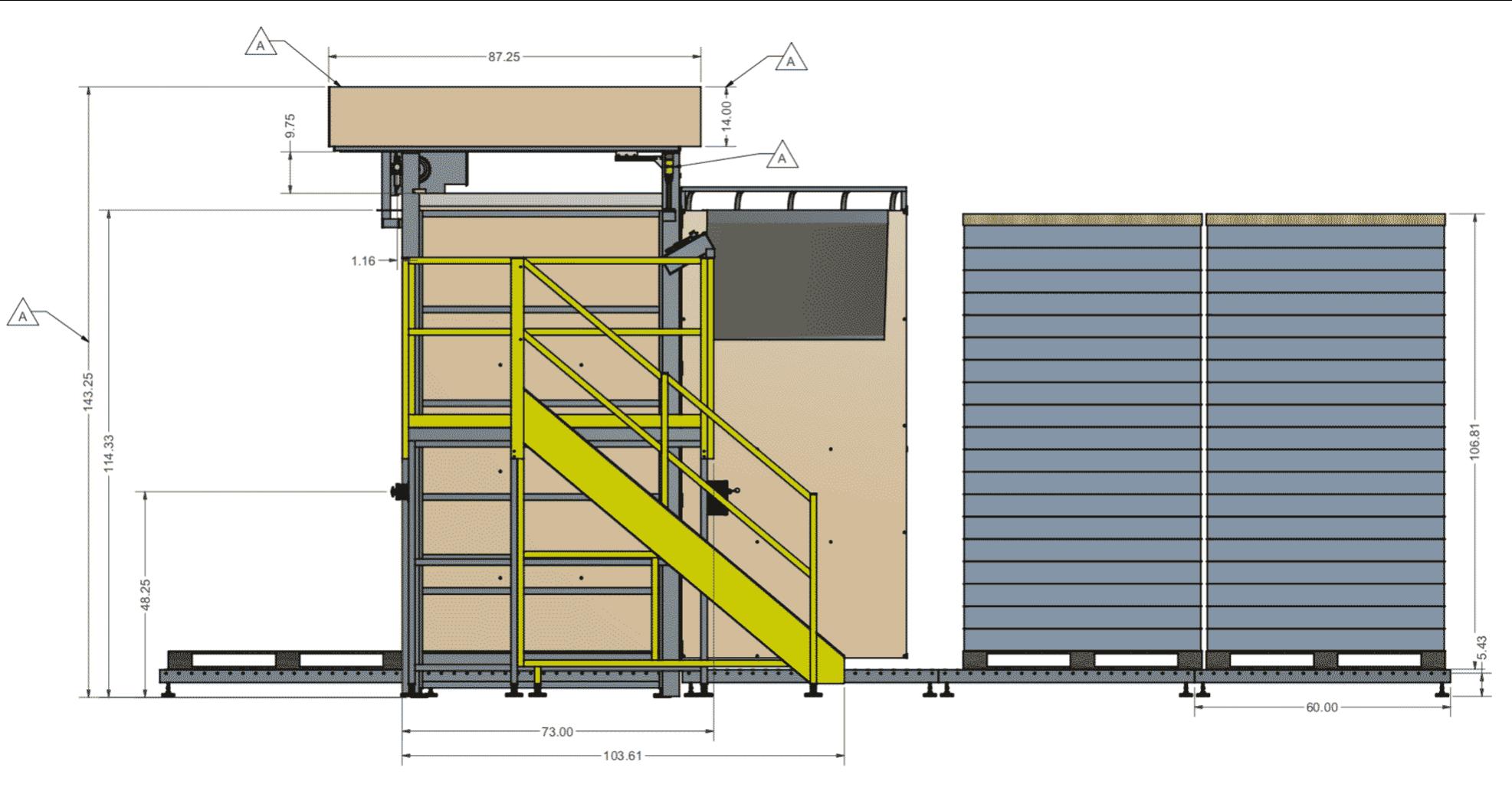 Automatic Full Pallet Depalletizer Platform
