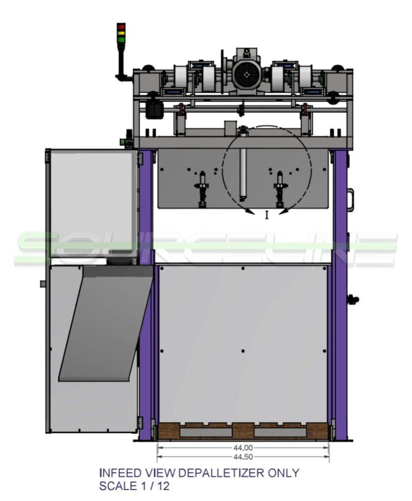 Automatic Low Level Depalletizer