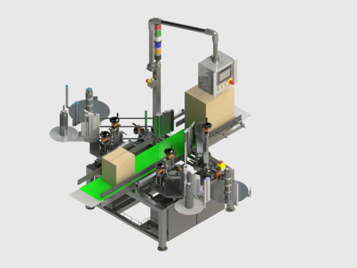 Langguth Pressure Sensitive Carton Labeler
