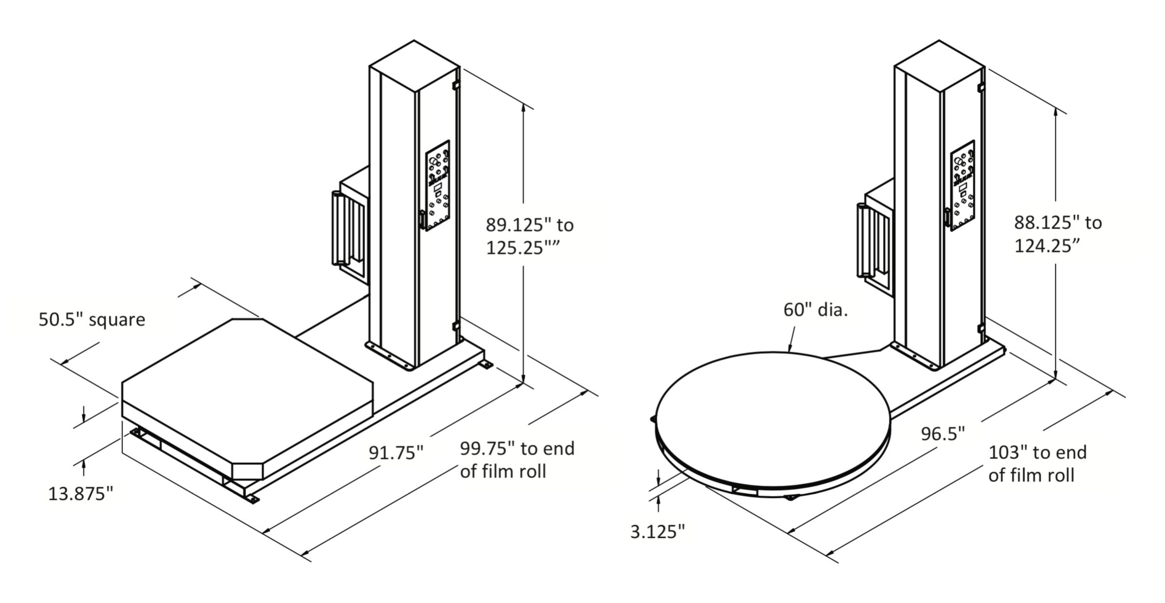 Semi-Automatic Wrap-N-Weigh Stretch Wrapper