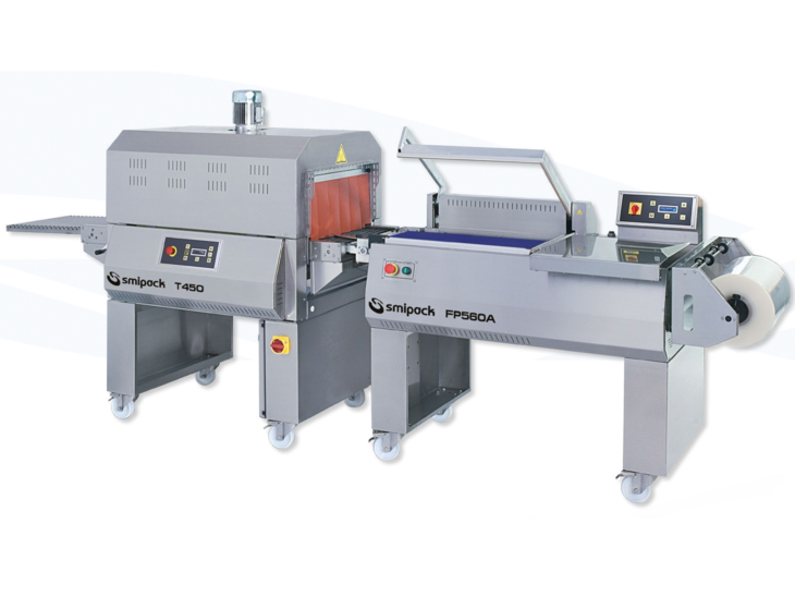 Stainless Steel Semiautomatic L Sealer with Shrink Tunnel