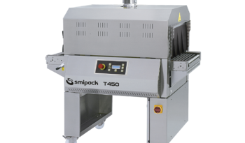 Stainless Steel Semiautomatic L Sealer with Shrink Tunnel full