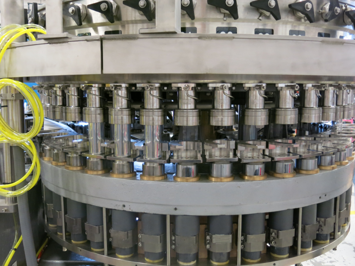 Production Ready Crown Can Filler with Angelus Seamer full