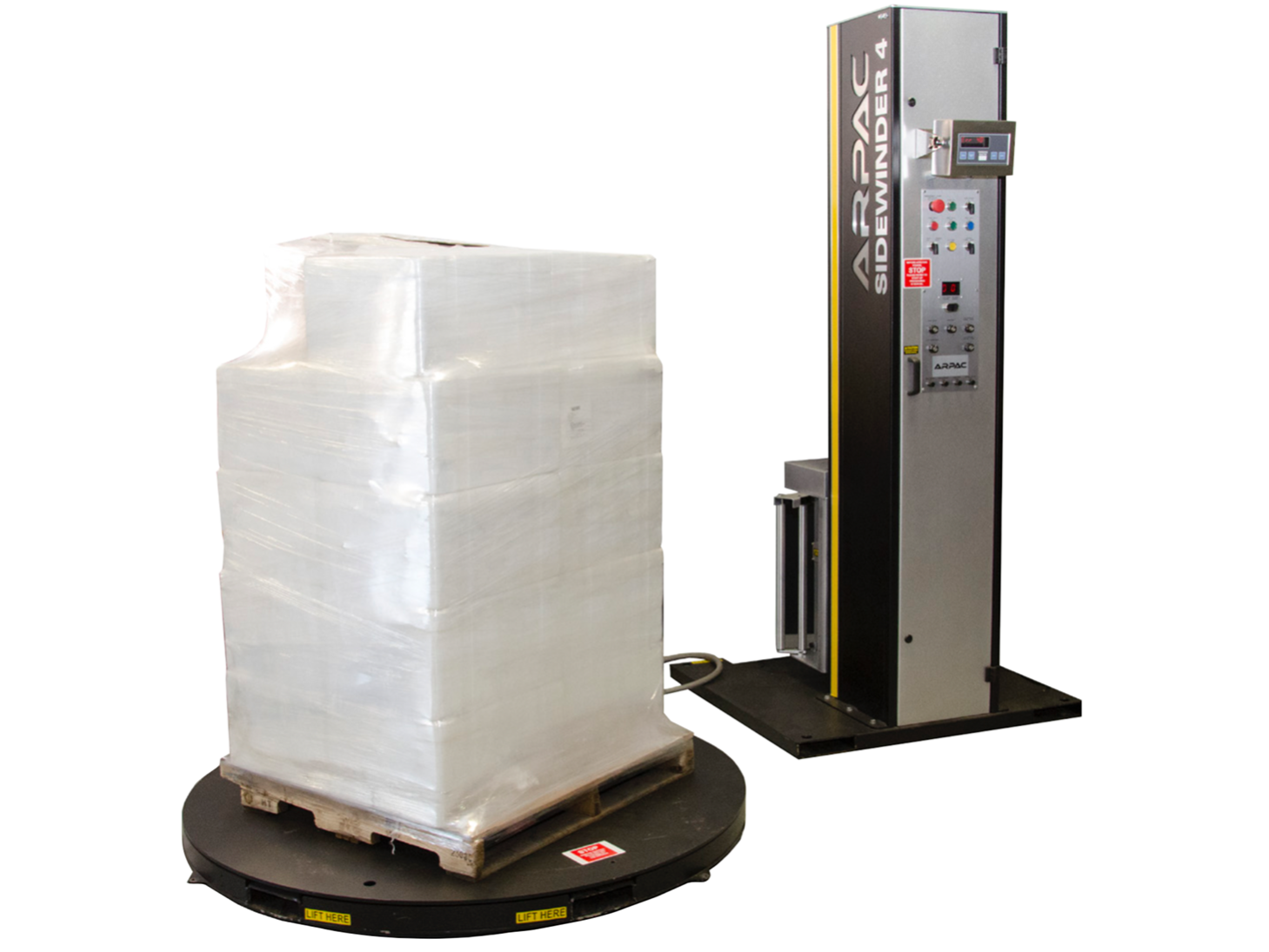 Semi Automatic Stretch Wrapper With Scale Low Profile