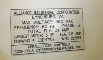 Used ALLIANCE High Level Bulk Depalletizer full