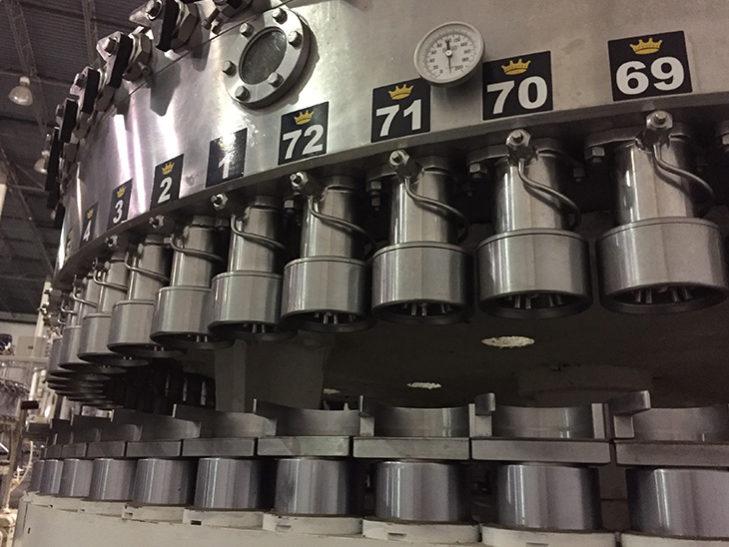 Used CROWN 72 Valve Beverage Can Filler