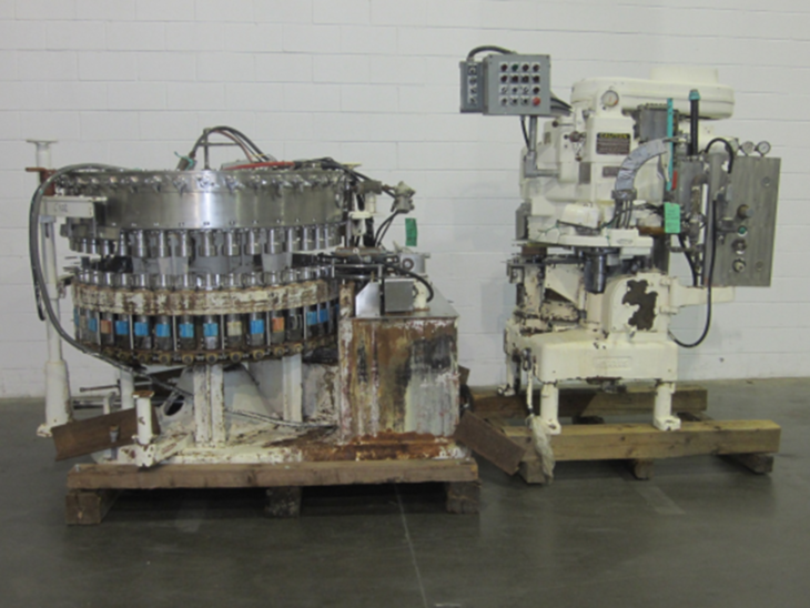 Used Crown 40 Valve Can Filler with Angelus 61h Seamer full