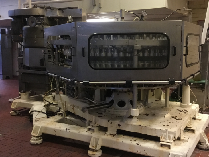 Used Crown 72 Valve Can Filler with Angelus 120L Seamer