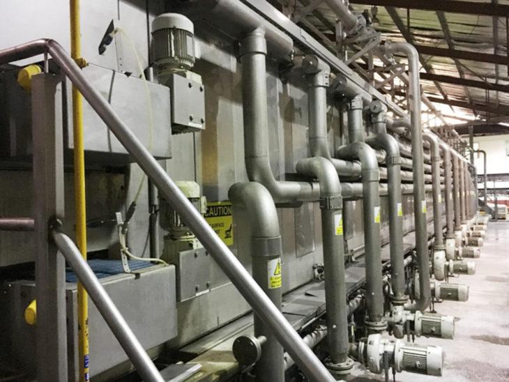 Used Krones Sander Hansen Pasteurizer Tunnel full