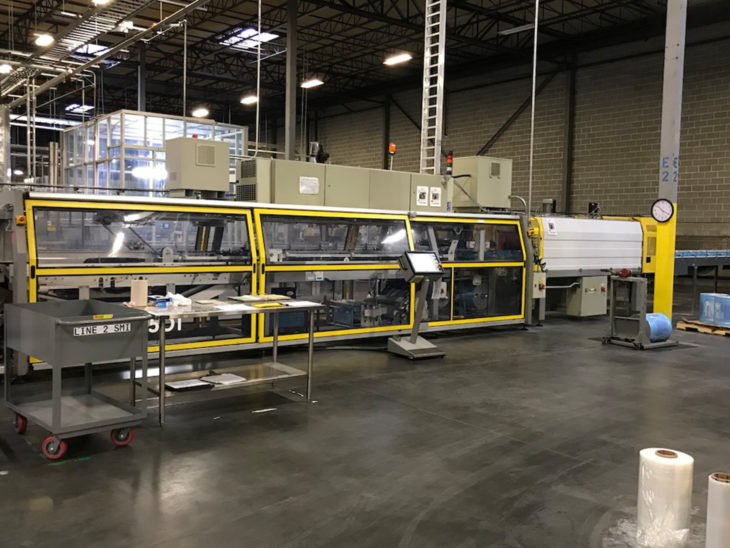 Used SMI Tray Former Packer Automatic Shrink Wrapper