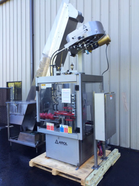 Used Arol 6 Head Aluminum Ropp Capper Sourceline Machinery