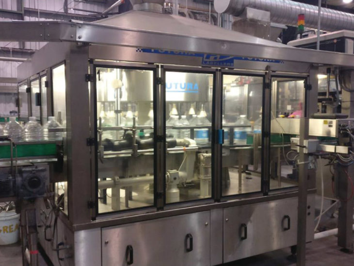 Used P.E. LABELLERS Rotary Cut & Stack Hot Melt Glue Labeler