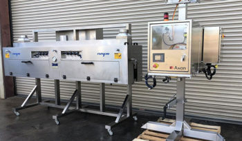 Used AXON Automatic Sleever with NAFM Steam Heat Tunnel