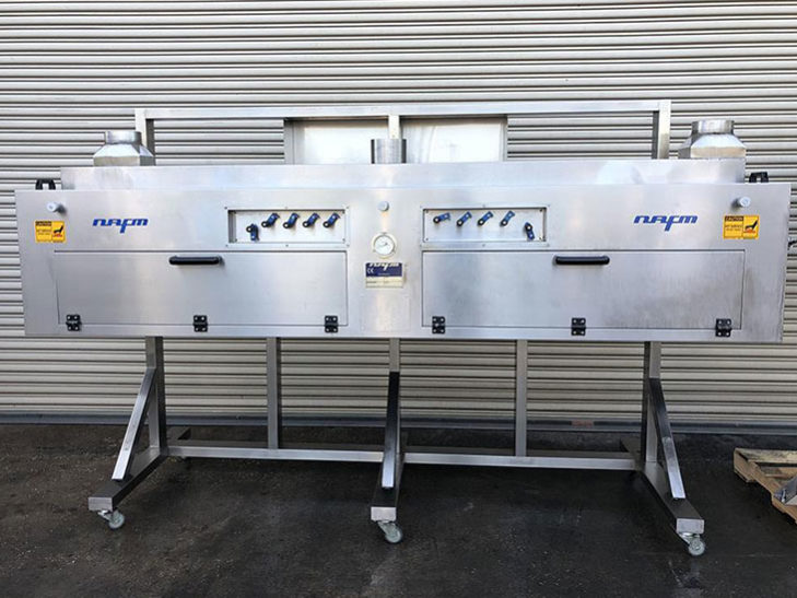Used AXON Automatic Sleever with NAFM Steam Heat Tunnel full
