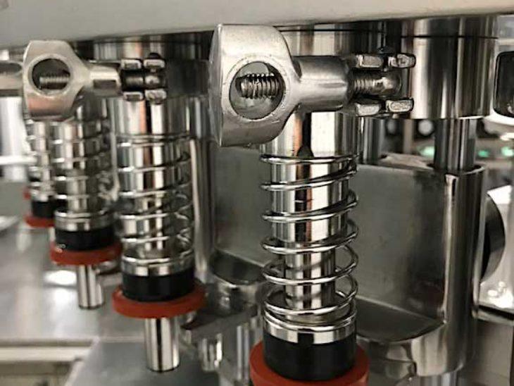 Used Linker 48 Valve Bottle Filler with 16 Head Screw Capper full