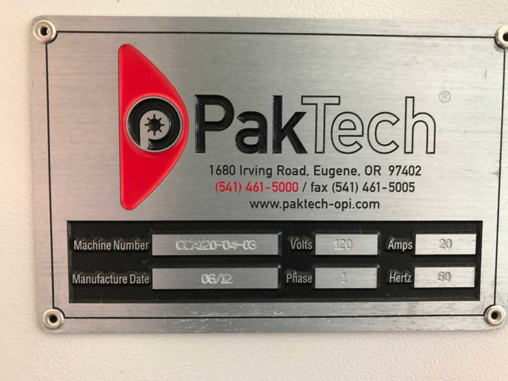 Used PakTech Can Carrier Applicator full