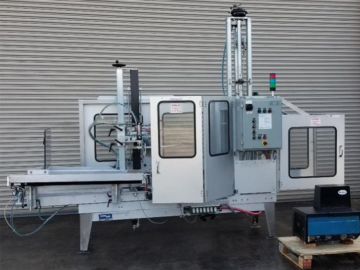 Used Wexxar Automatic Inline Case Erector with Nordson Glue System