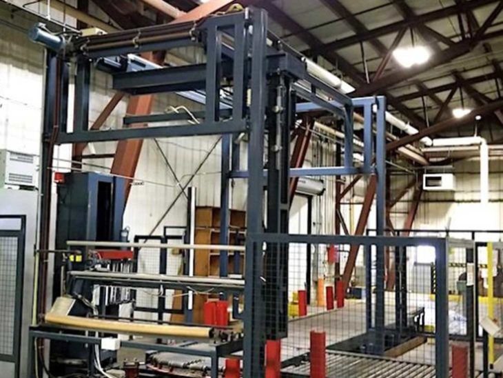 Used Wulftec Automatic Pallet Stretch Wrapper full