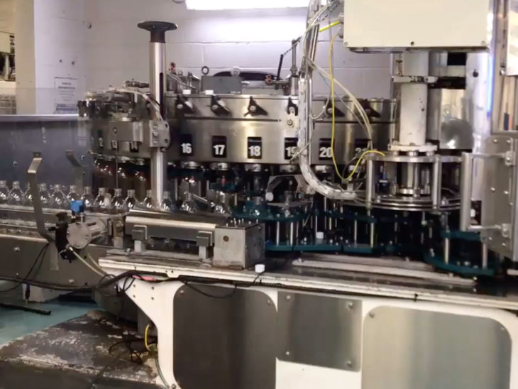 Used Crown Uniblend 45 Valve Filler with 6 Head Capper