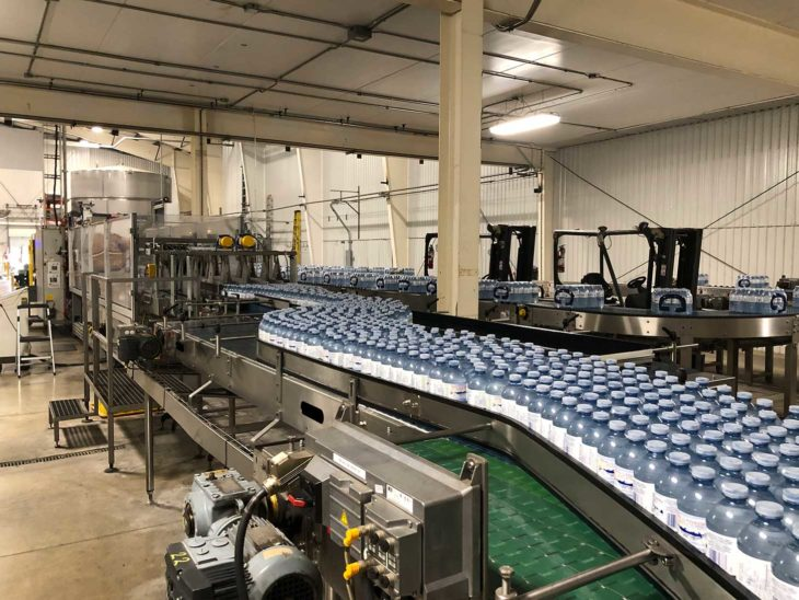 Used Complete 36000 BPH PET Water Bottling Line