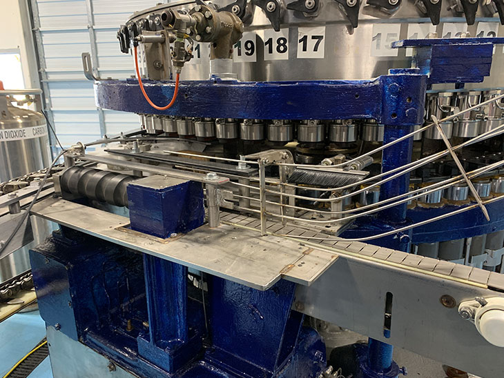 Used Crown 60 Valve Can Filler with Angelus 120L Seamer full