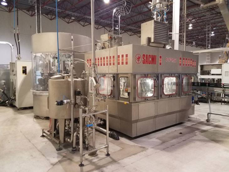 Used Sacmi SBF 408 Blow Fill Cap System