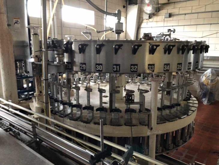 Used Bevcorp Crown Uniblend 45 Bottle Filler with Alcoa 6 Head Capper full