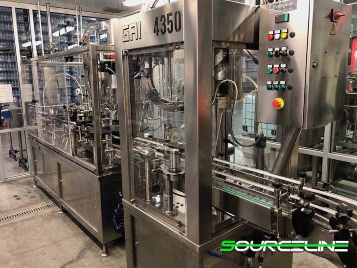 Used GAI 50 BPM Glass Bottling Line