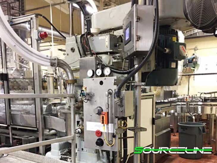 Used Krones 100 Valve Can Filler with Angelus 120L Seamer full
