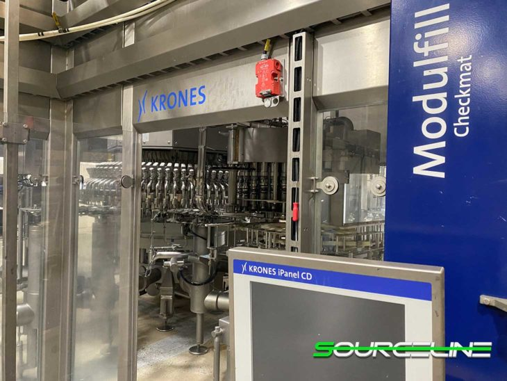 Used Complete 900BPM Krones Water Bottling Line