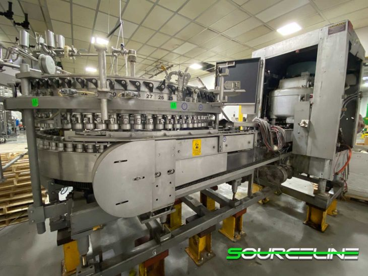Used Crown 72 Valve Can Filler with Angelus 121L Seamer