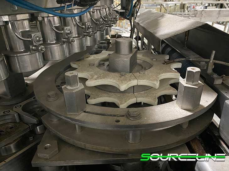 Used Crown 72 Valve Can Filler with Angelus 121L Seamer full