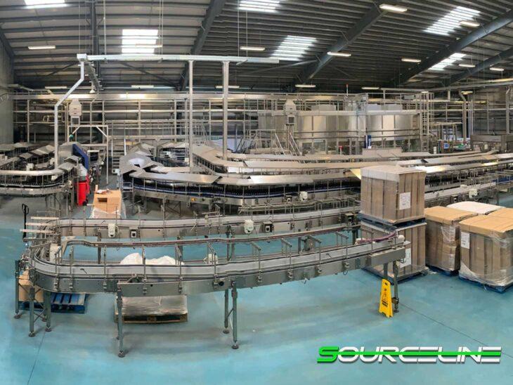 Complete Krones 46,000BPH Glass Bottling Line
