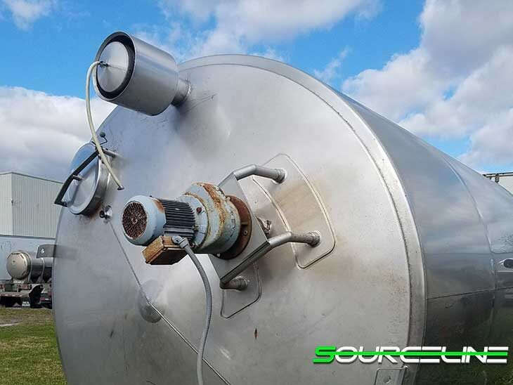 Used 6000 Gallon Insulated Jacketed Stainless Steel Tank full