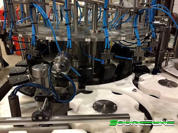 Used Ronchi 18 Valve Piston Filler with 6 Head Capper full
