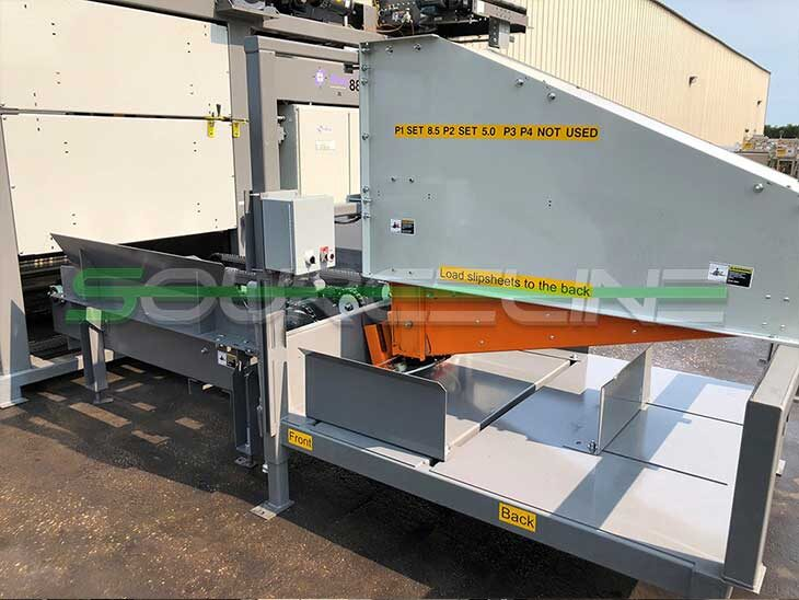 Used Alvey 881 Automatic High Speed Case Palletizer full
