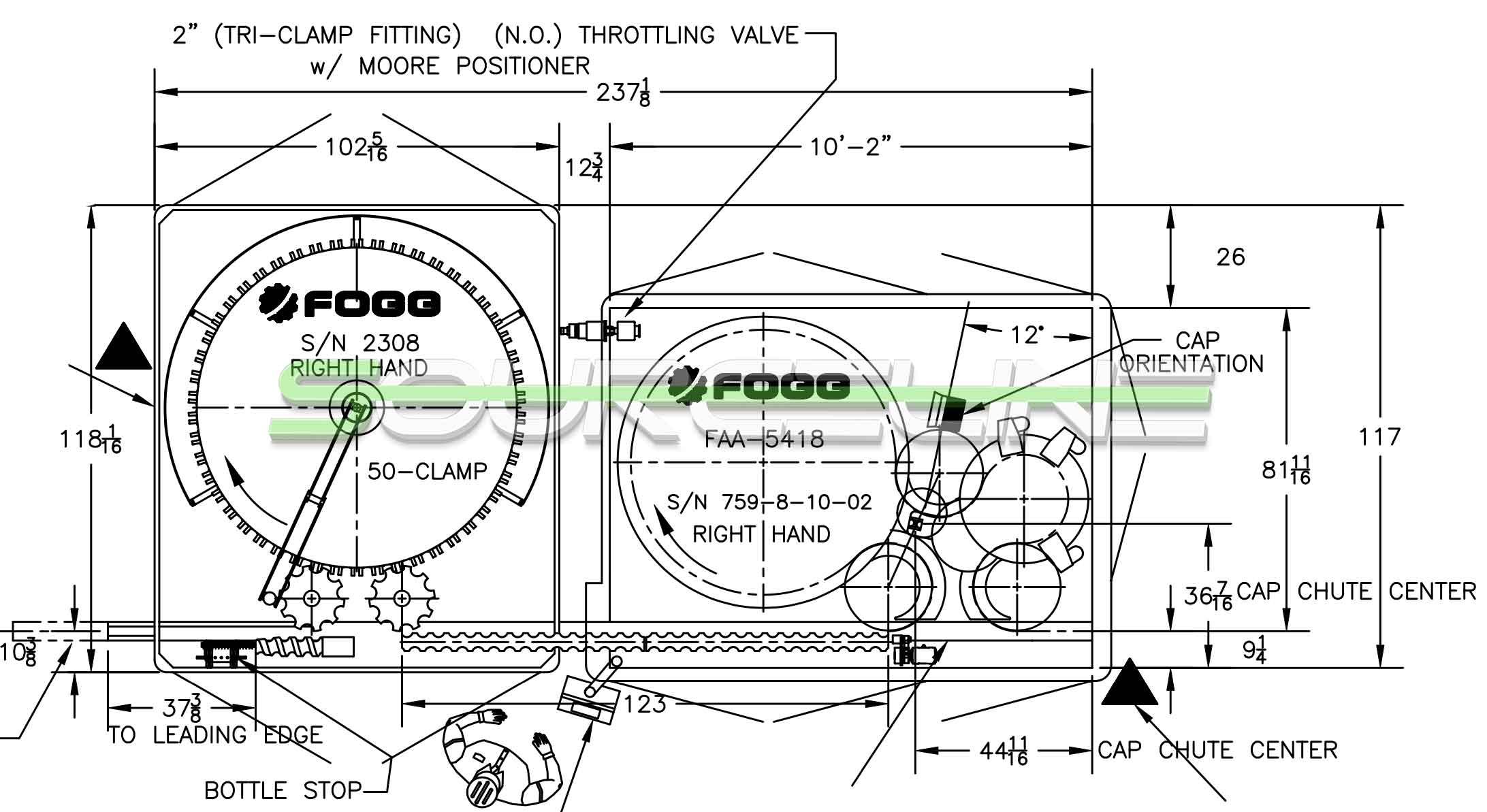 FOGG 54 Valve Rinser Filler Capper