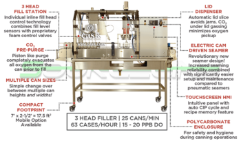 Never Used CASK mACS Micro Canning System full