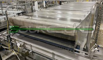 Used 7' x 22' Stainless Steel Bottle Warming Tunnel